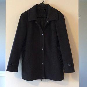 Jackets & Blazers - WOOL CASHMERE CHARCOAL GRAY PEACOAT JACKET COAT